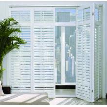 Novas portas bifold com aletas de alumínio personalizáveis