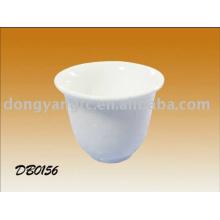 Porcelana por atacado direta da fábrica branca xícara de chá