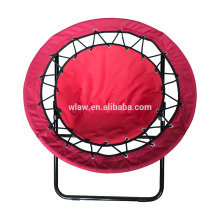 outdoor folding bungee chair/ foldable round mesh chair