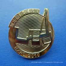 Goupille métallique à revers inégalée, badge organisationnel personnalisé (GZHY-LP-022)