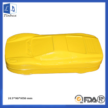 Yellow Car Shape Stationery Tin Box