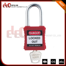 Elecpopular China Online Selling Colorful Red Keyed Alike PA Plastic Safety Padlock