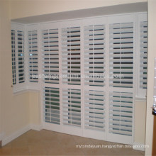 white painted pvc shutter for home fauxwood shutter