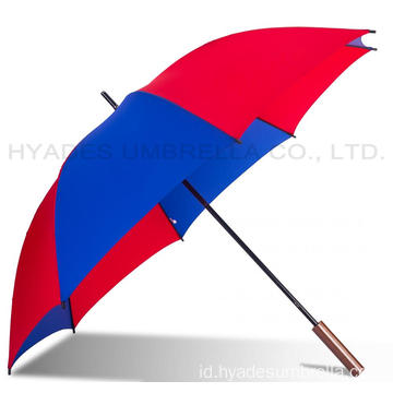 Ringan Tahan Angin Berwarna Manual Open Straight Umbrella
