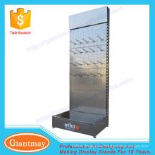 einseitig freistehend pulverbeschichtetes pegboard Werkzeughalter Metall Display Stand Haken