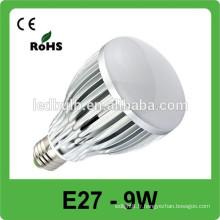 E27 9w rgb spot spot couleur avec lampe à télécommande ampoule