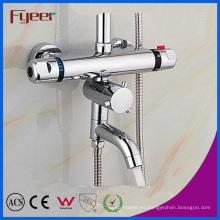 Fyeer atractivo grifo de ducha termostática solar baño con desviador