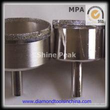 Galvanizada de perfuração Bits para porcelana e vidro