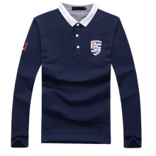 2016 Wholesale Long Sleeve Man′s Polo Shirt