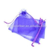 Organza imprimé personnalisé dans des sacs d'emballage