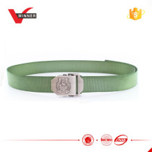 Army use army green military belt embossed buckle