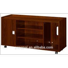 Long dimension mobile cabinet drawer