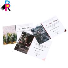 China Fabrik hochwertige Postkarte Buchdruck mit glänzenden laminiert