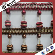 Wood Beads Curtain tassel fringe trimming Fringe used for cushions,,curtain and accessories of home decoration accessory