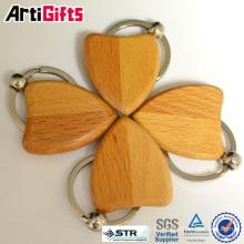 Nouvelle chaîne porte-clés en bois sculpté