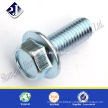 O acabamento em zinco Made in China 8.8s parafusos de flange hexagonal