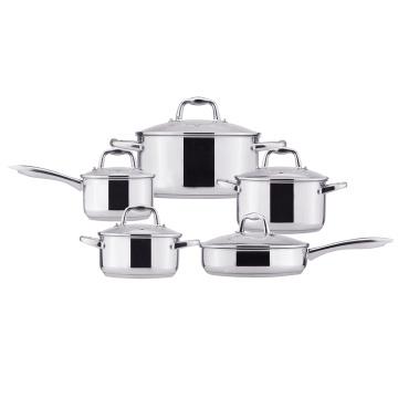 Capsule bottom cooking pot kitchen cookware set