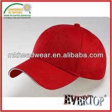 100% acrylic White sandwich visor baseball cap