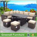 New Design Lazer Rattan mesa de configuração Mobiliário Outdoor