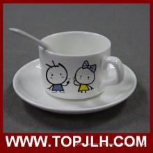 Café céramique Sublimation Mug avec plaque & cuillère