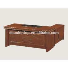 Chefschreibtisch aus Holzfurnier, Büroschreibtischzubehör zum Verkauf (A-31)
