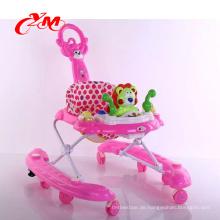 Eine Fabrik Verkauf sichere Schwenkräder Lauflernhilfe mit abnehmbaren Spieluhr / Softextile Baby Walker / Comfort Baby in einem Walker