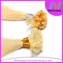 Blonde U Tip Hair Extensions For White Women