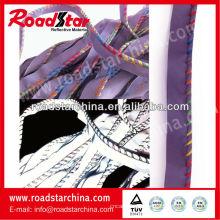 tubulação de reflexivo do poliéster alta visibilidade, costura com fios coloridos