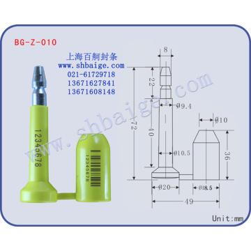 selos de segurança BG-Z-010, fechamento de vedação de contêiner