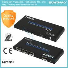 5В/1А постоянного тока Поддержка 3D с разрешением 1080p 2.0 в разъем HDMI коммутатор 3х1 HDMI для видео
