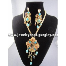 African Jewelry set gold plated