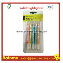 Marcador sólido fluorescente con brillo de metal Color