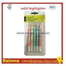 Флуоресцентный сплошной маркер с металлическим блеском цвета
