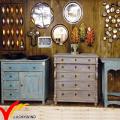 Commode Handmade Black Home Cabinet Vintage French Living Room Furniture