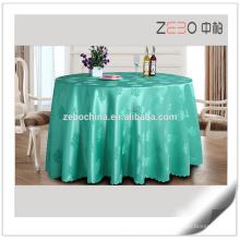 Restaurant Coloful Polyester Atacado Toalhas de mesa para mesas redondas