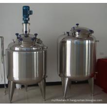 Réservoir mixte en acier inoxydable avec agitateur