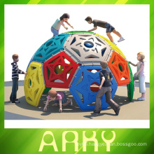 children build fitness equipment ball climbing