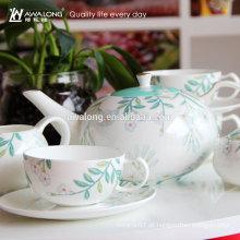 Fábrica de China Aceitar OEM personalizado simples fina cerâmica Coffee Set