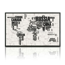 Neue Weltkarte Leinwand Malerei Wand Kunst Dekor