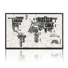 Nueva decoración del arte de la pared de la pintura de la lona del mapa del mundo
