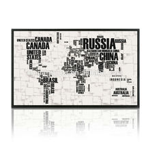 New World Map Canvas Painting Wall Art Decor