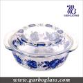 9 '' tigelas de vidro de cozimento Pyrex com design de decalque (GB13G13265-TH)