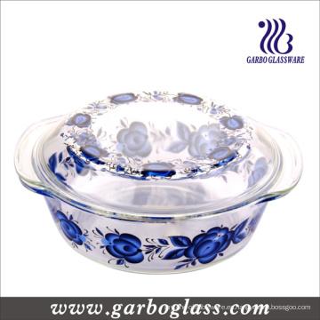 9 '' Pyrex Cuencos de vidrio con diseño de calcomanía (GB13G13265-TH)