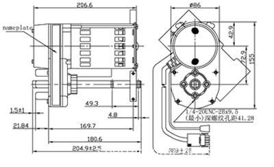 86YJ1901 ac linear actuator/ dimension