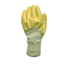Luva de trabalho químico totalmente revestida de nitrilo amarelo-5033