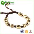 Fashion North Skull Bracelet Rope Woven Braid Gold Alloy Skull Bracelet Bangle