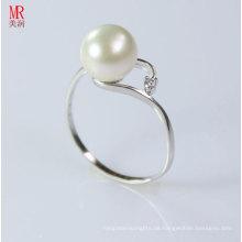 Art und Weise 925 reiner silberner weißer Perlen-Ring (ER107)