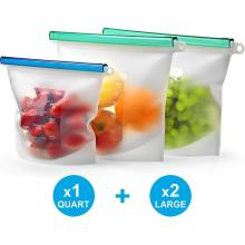 Food grade silicone vacuum bags with ziplock
