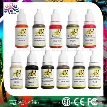 Micro pigmento de maquiagem permanente e maquiagem permanente tatuagem cor tinta set fornecedor