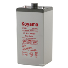 2V batería AGM estacionaria AGM batería de almacenamiento de plomo 2V300ah para batería de UPS de telecomunicaciones